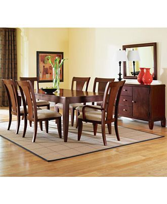Metropolitan Contemporary 9Piece Dining Table 6 Side Chairs & 2 Pleasing Macys Dining Room Chairs 2018