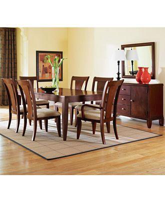 Metropolitan Contemporary 9 Piece Dining Room Furniture Set