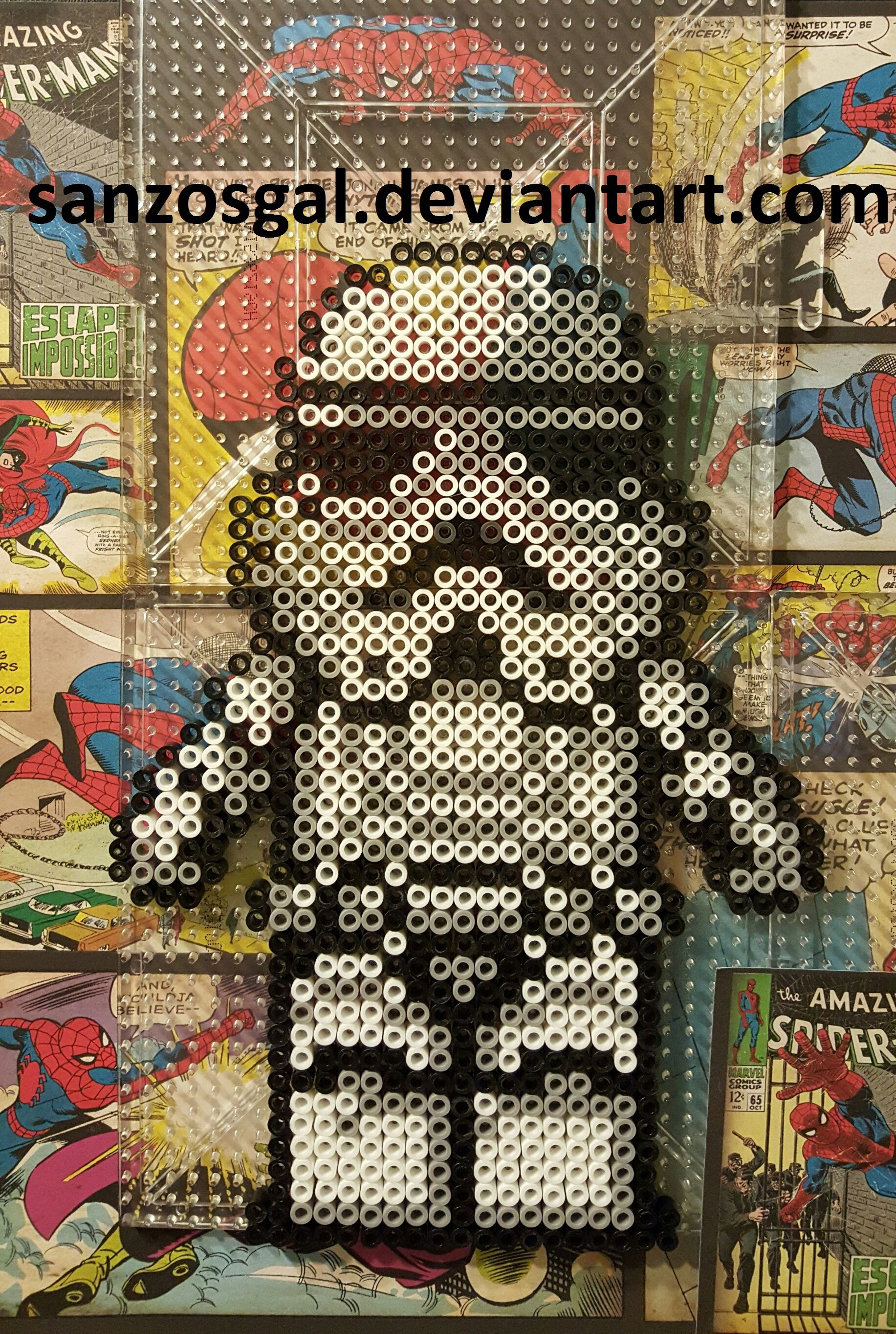 Star Wars StormTrooper perler beads by sanzosgal | Perler - Starwars ...
