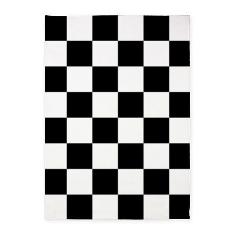 Black And White Checkered Pattern 5 X7 Area Rug By Beautifulbed Cafepress Area Rug Design Area Rugs Checkered Pattern