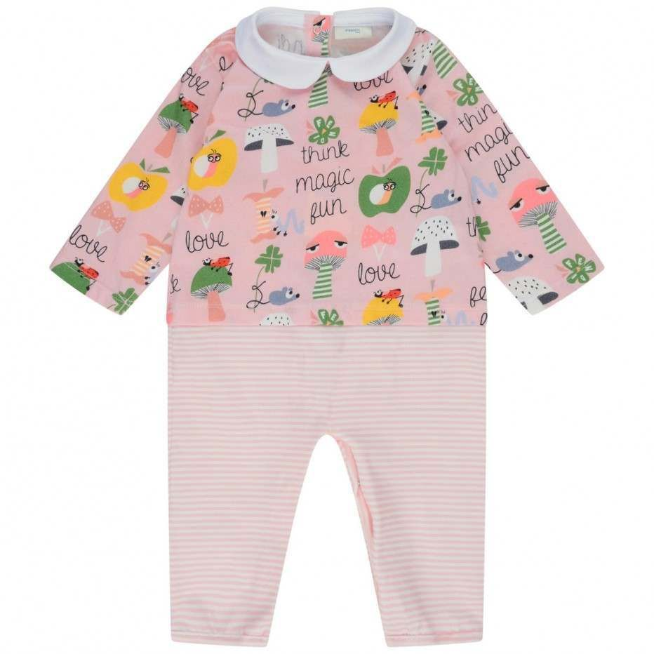 93524be80752 Fendi Baby Girls Pink Toadstool Romper Gift Set (3 Piece) - Baby ...