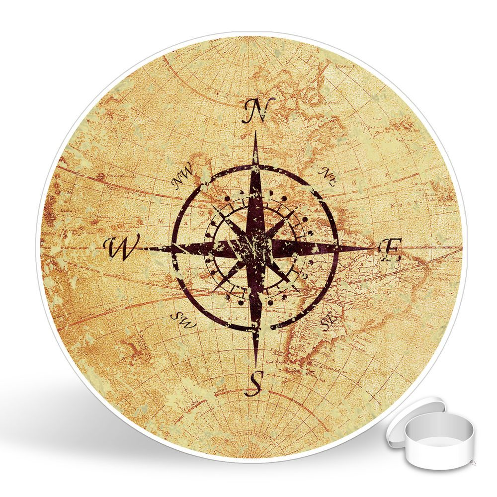 Wonderful Metal Nautical Compass Wall Decor Gallery - The Wall Art ...