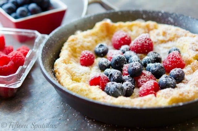 This Dutch Baby Pancake recipe is a great way to change up ...