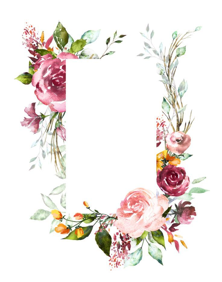 Floral boarder Tole painting Flower frame, Floral border
