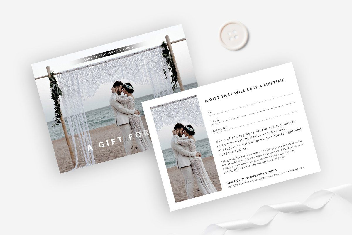 Photography Gift Certificate Photography Gift Certificate Photography Gifts Gift Certificates