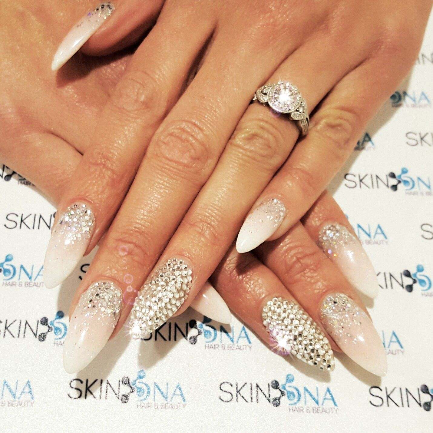 We Love Nails: We Love Nails ♡ French Ombre With Swarovski Stones And A