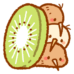 These Are Stickers Of Kiwi Birds Cute Line Stickers In