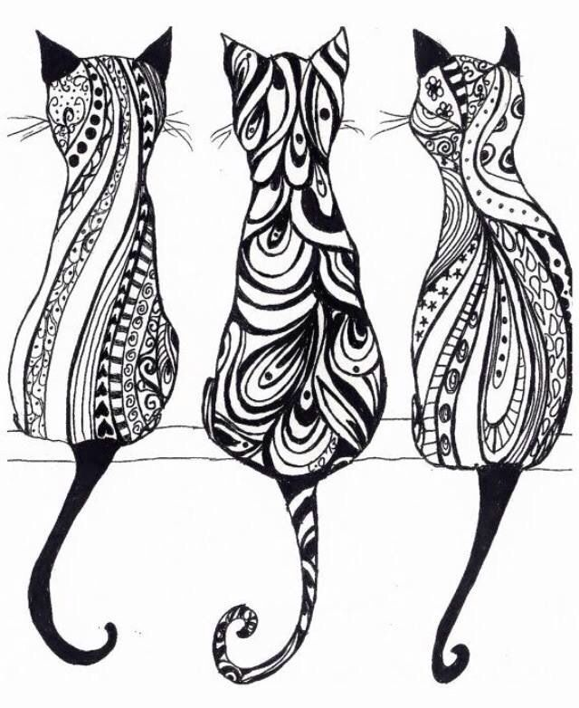 Yes Cats Printable Stencil Patterns Stencils Printables Cat Coloring Page