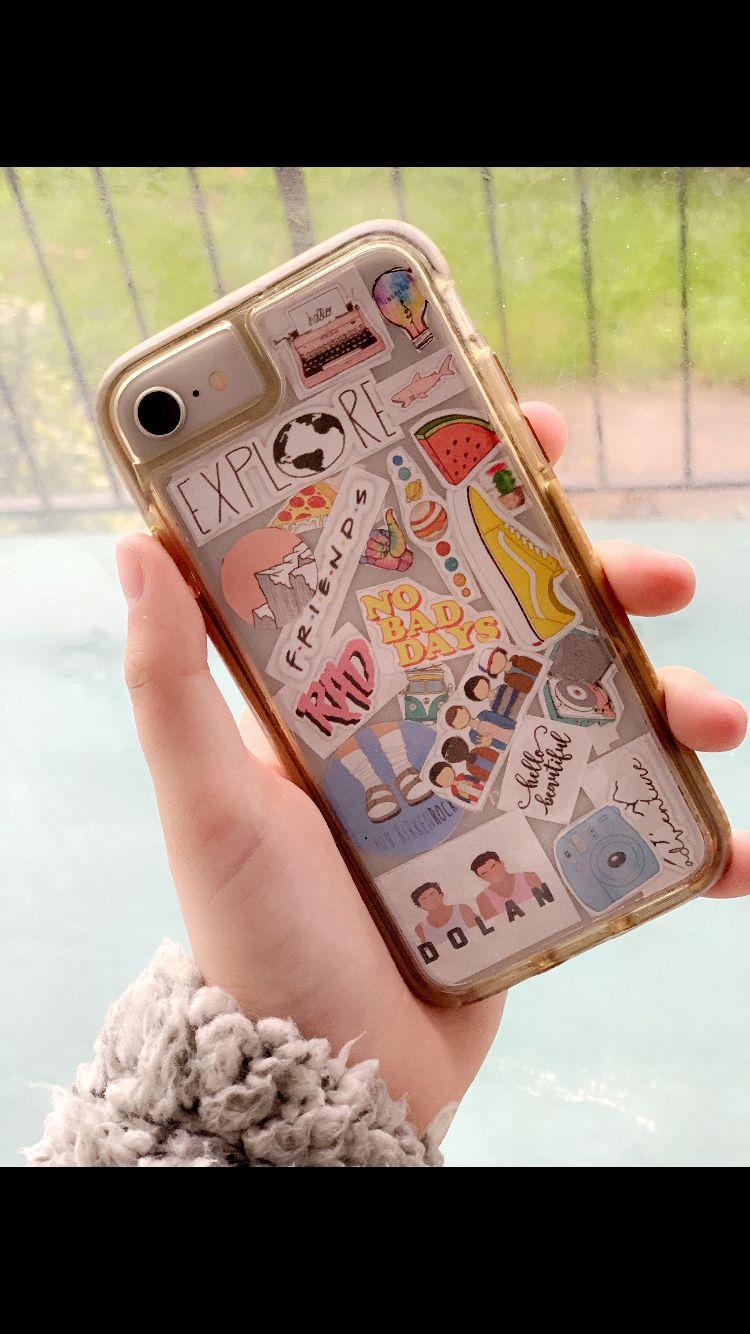 diy phone case🤘🏻 #behappy | Aesthetic phone case, Cute ...