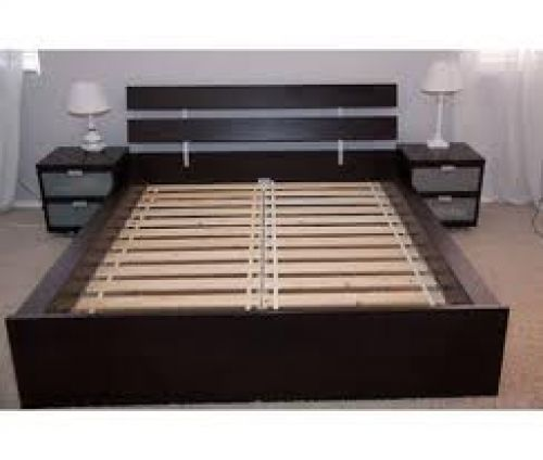 Queen size bed frame ikea hopen ikea bed frame furniture for Queen size bed ikea