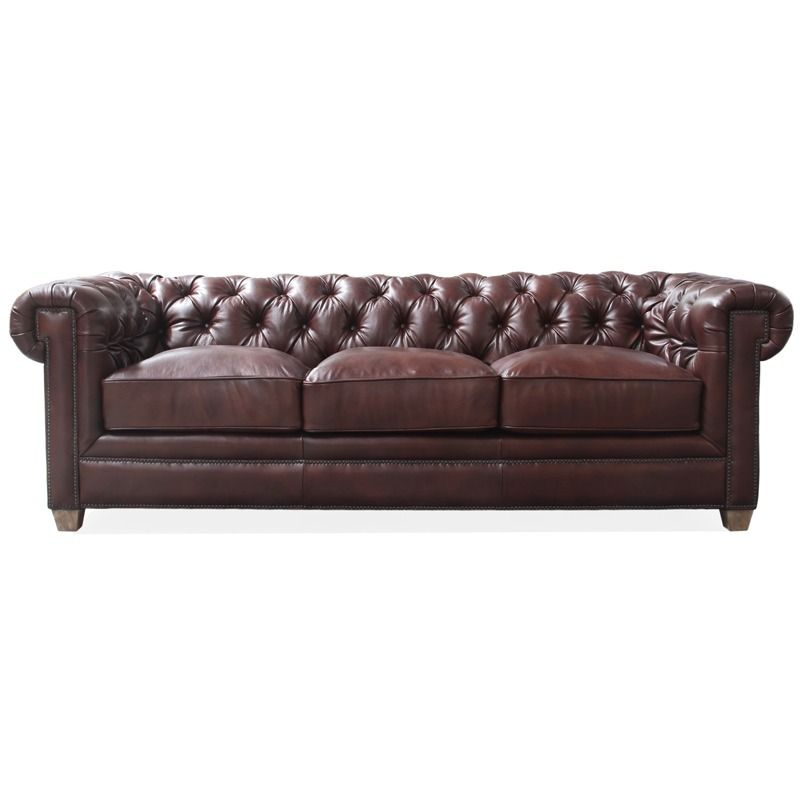 Rachlin Kingston All Leather Tufted Sofa | Weekends Only Furniture And  Mattress