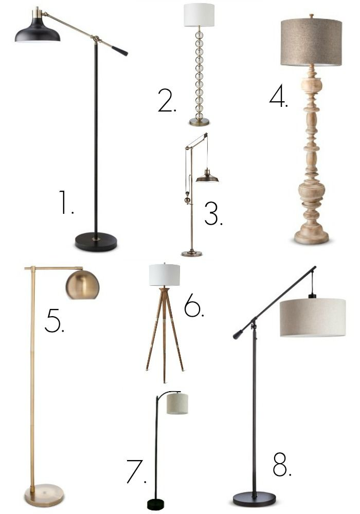 Thrifty Decor Chick: My Favorite Target Lighting -- Floor lamps and table lamps. January 2016.