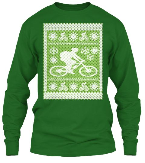 Awesome Cycling Hoodie Ugly Christmas Irish Green T-Shirt Front ... 8f7b17a0c
