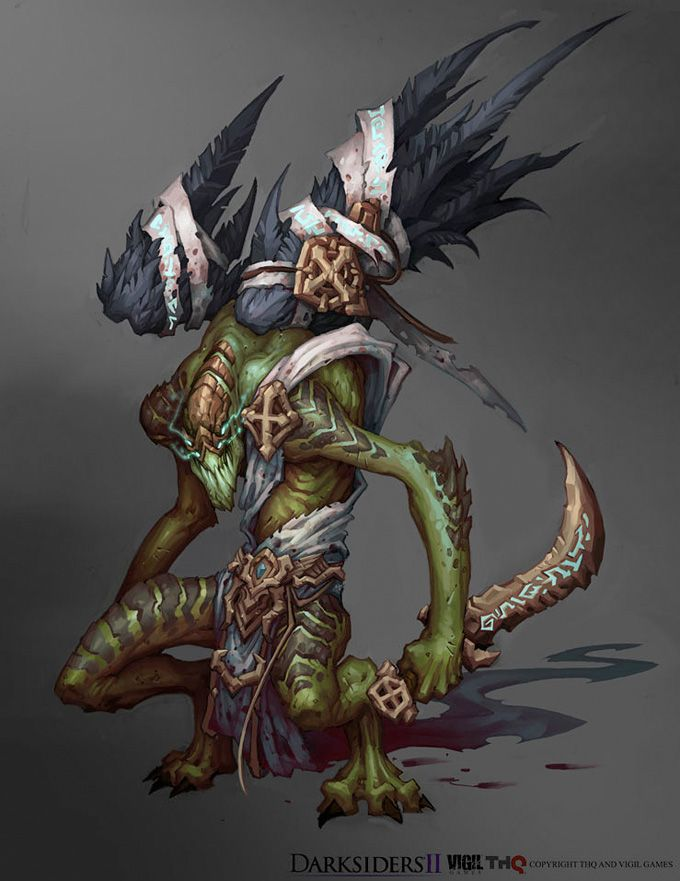 Darksiders II Concept Art by Avery Coleman | Monsters Of