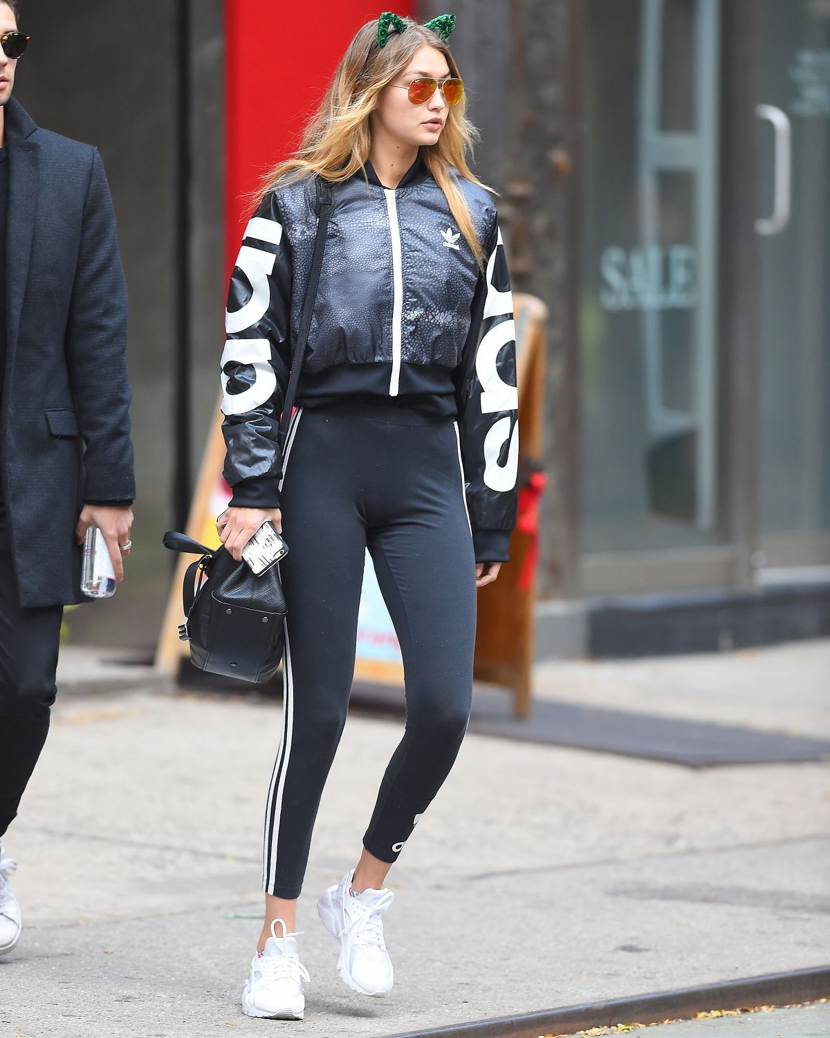 89fbd1ca7f gigi-hadid-wore-green-ears-and-adidas-workout-