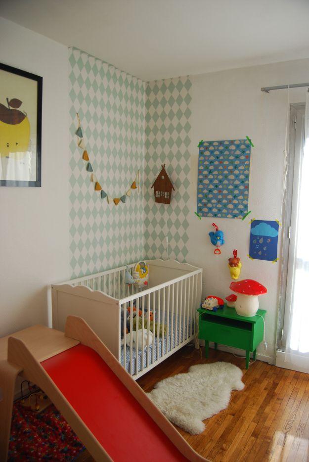 angle mur papier | chambre enfant | Pinterest | Future maman ...