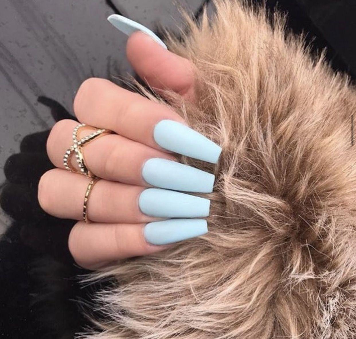 Baby Blue Acrylic Nails Baby Blue Acrylic Nails Blue Acrylic Nails Baby Blue Nails