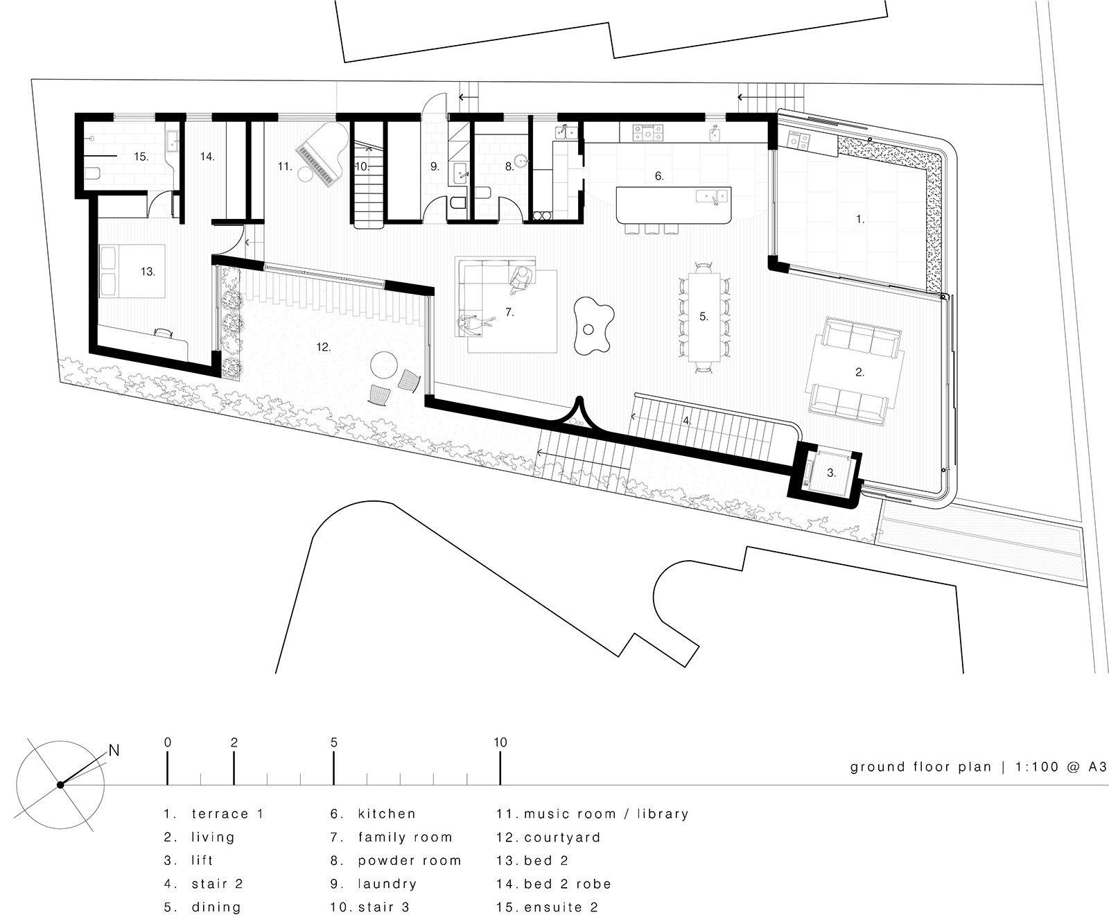 Gallery of Tama's Tee Home / Luigi Rosselli 24 Ground