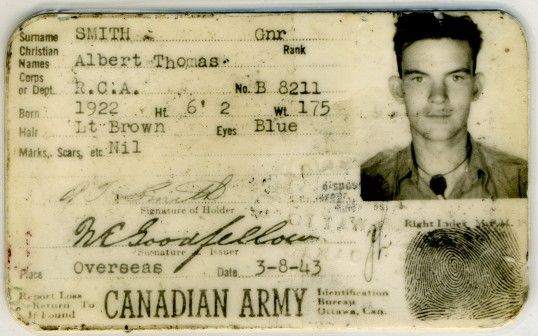 Albert Thomas Canadian Army