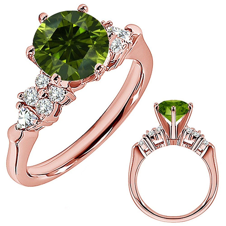 0.94 Carat Green Diamond Engagement Wedding Anniversary