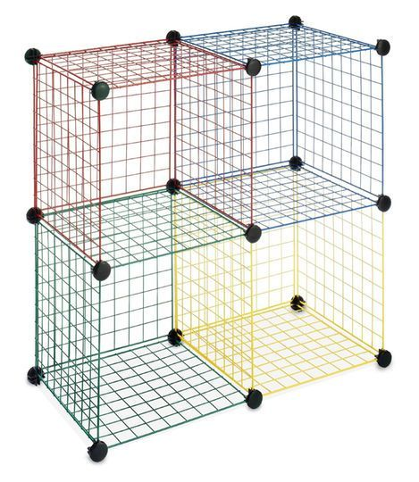 Whitmor Wire Multicolor Storage Cubes 4 Pack