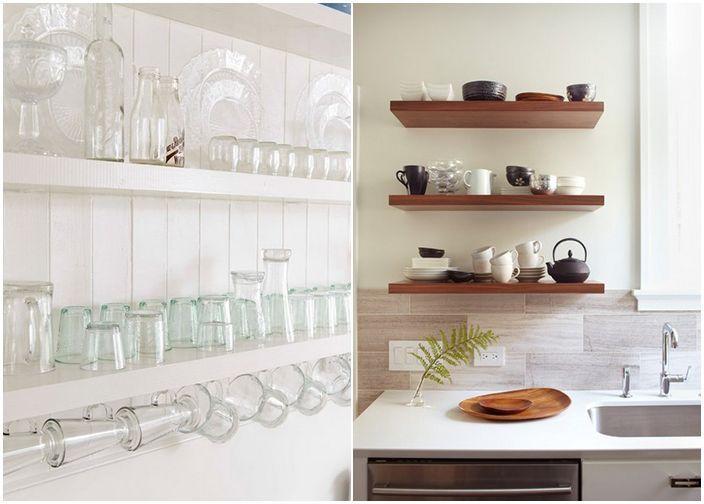 Enorm Åpne hyller på kjøkkenet interiør | kjøkken detaljer | Shelves CD-42