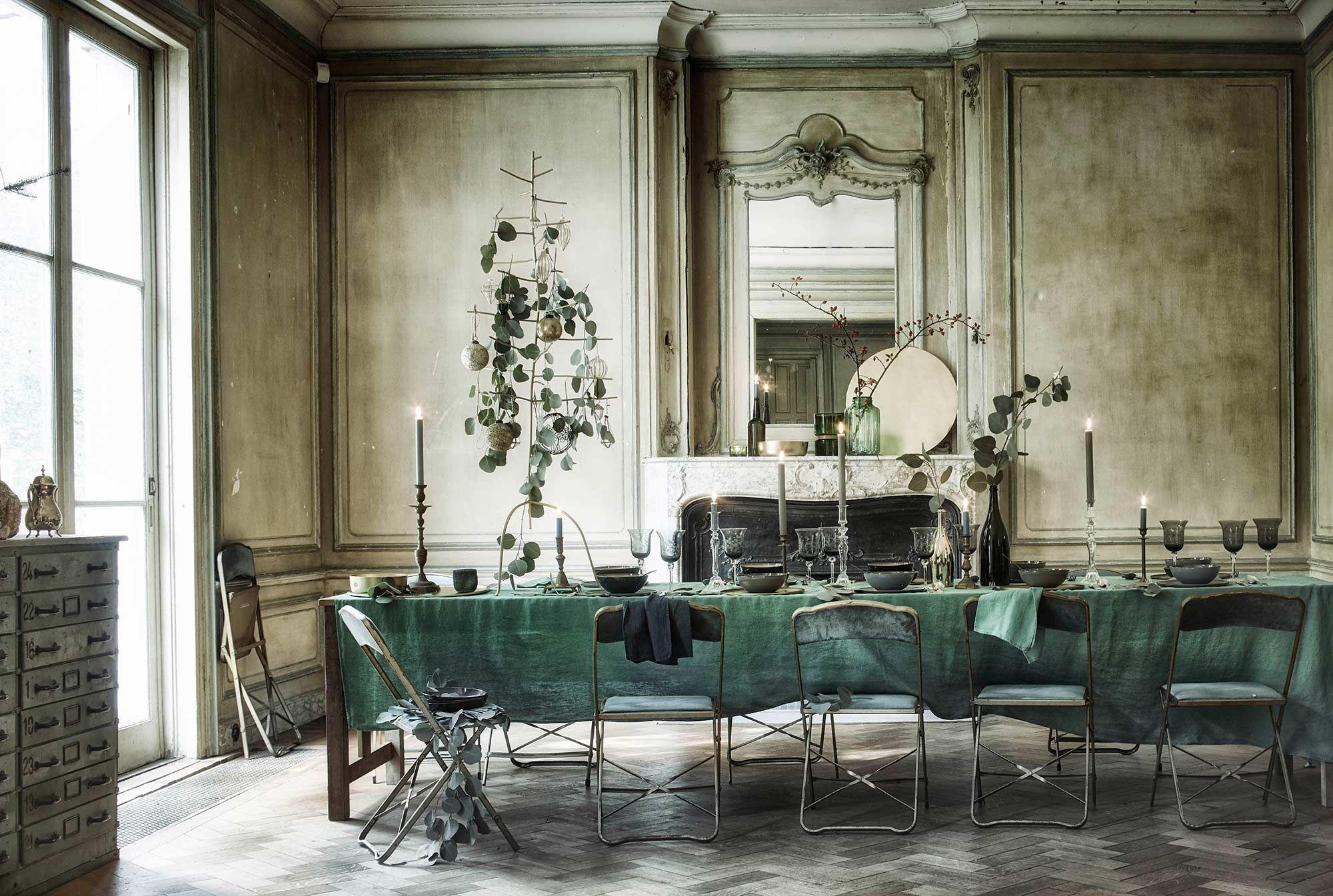 Groen tinten eetkamer green color diningroom