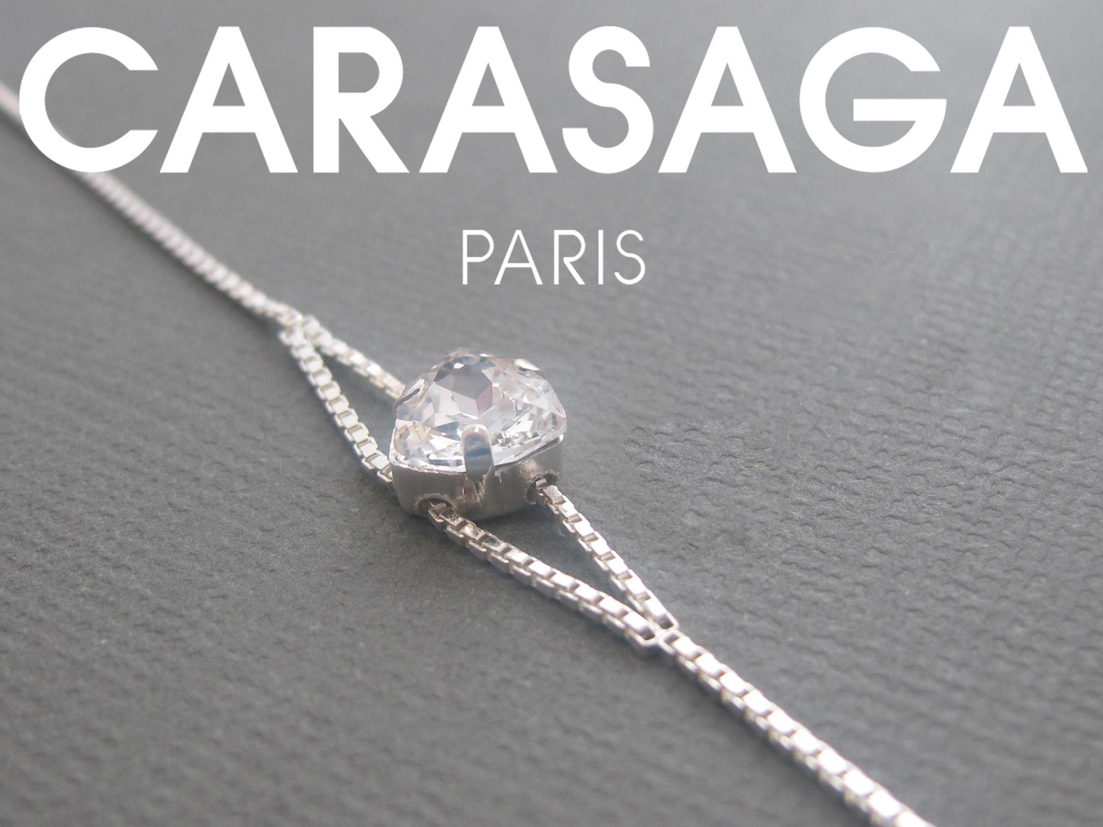 Bracelet Trilliant en cristal Swarovski® et finition Argent.