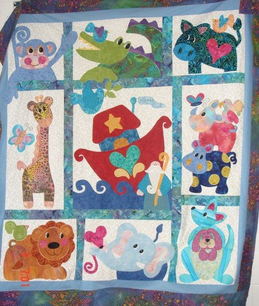 Noah and Friends by Kookaburra Cottage | From Other Heads to My ... : noahs ark quilt - Adamdwight.com