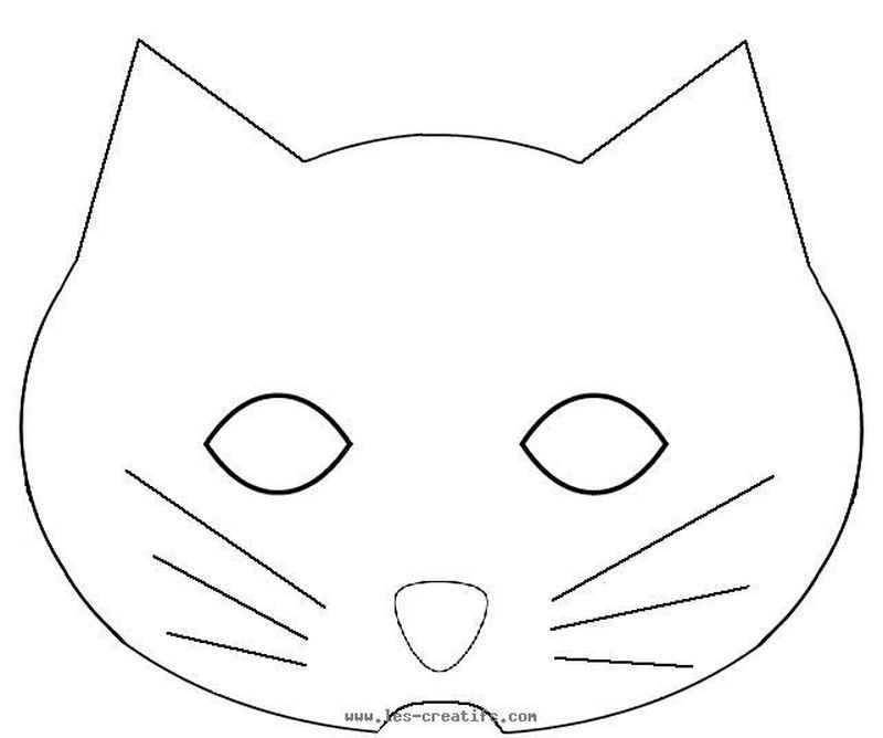 Black Panther Mask Coloring Page In 2020 Cat Mask Super Coloring Pages Mask For Kids