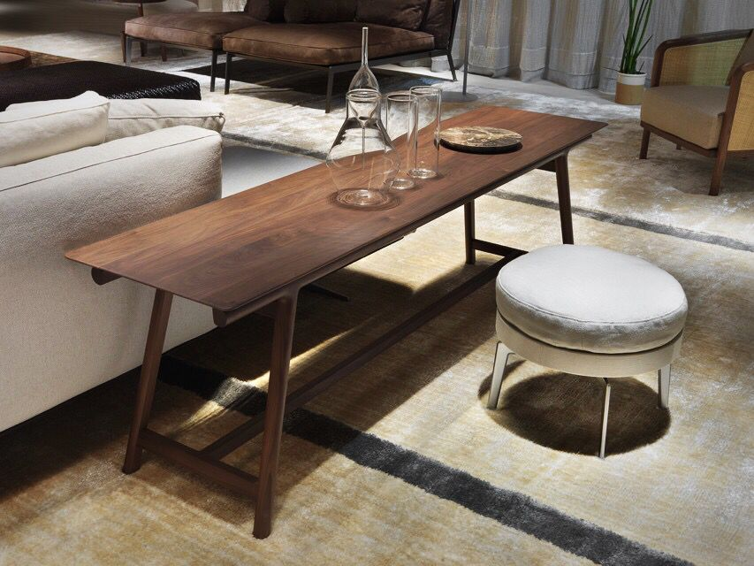 flexform made in italy giano console u0026 feel good ottoman projects by antonio
