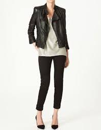 Resultado de imagen para como combinar chaqueta de cuero negra mujer ... f1e11db34cf