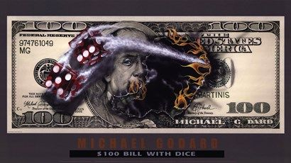 $100 Bill with Dice