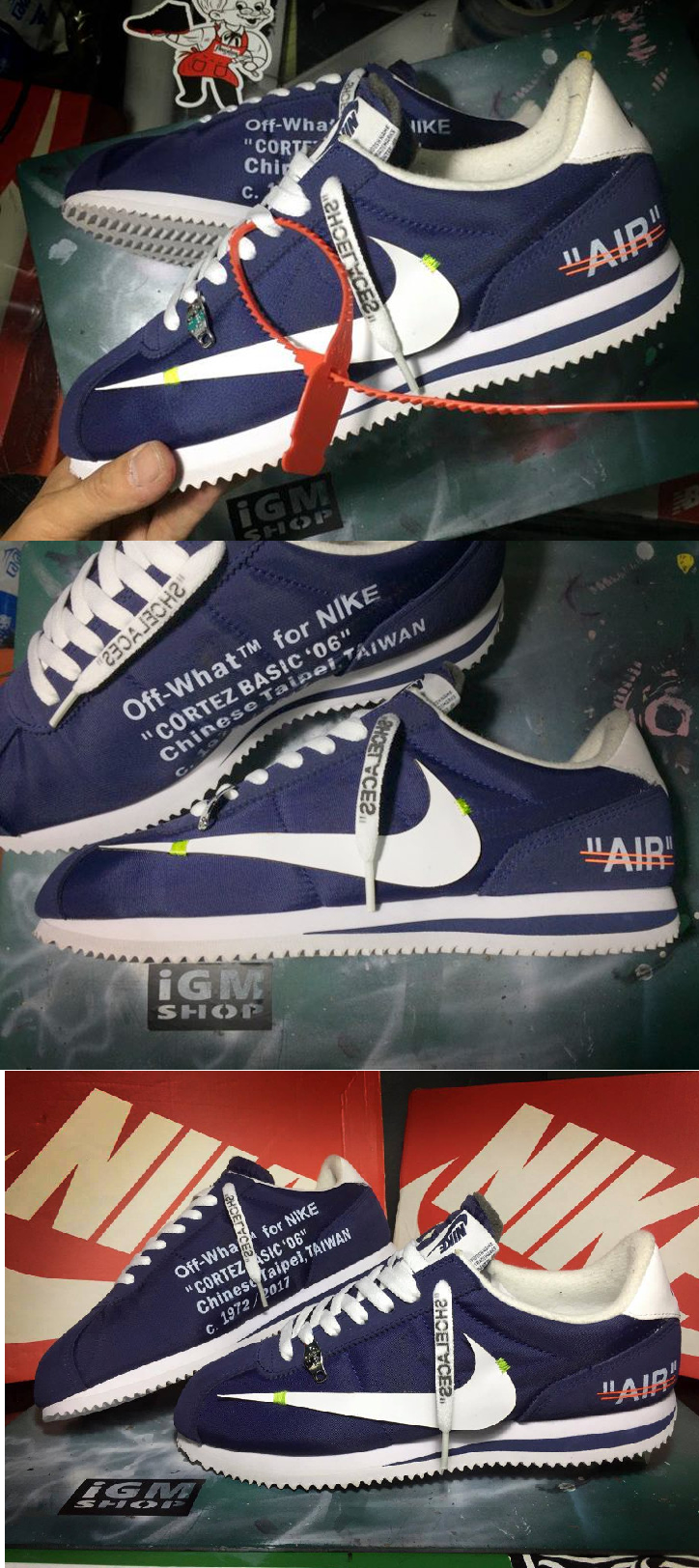 super popular 87965 61402 Off White x Nike Cortez  Revealing