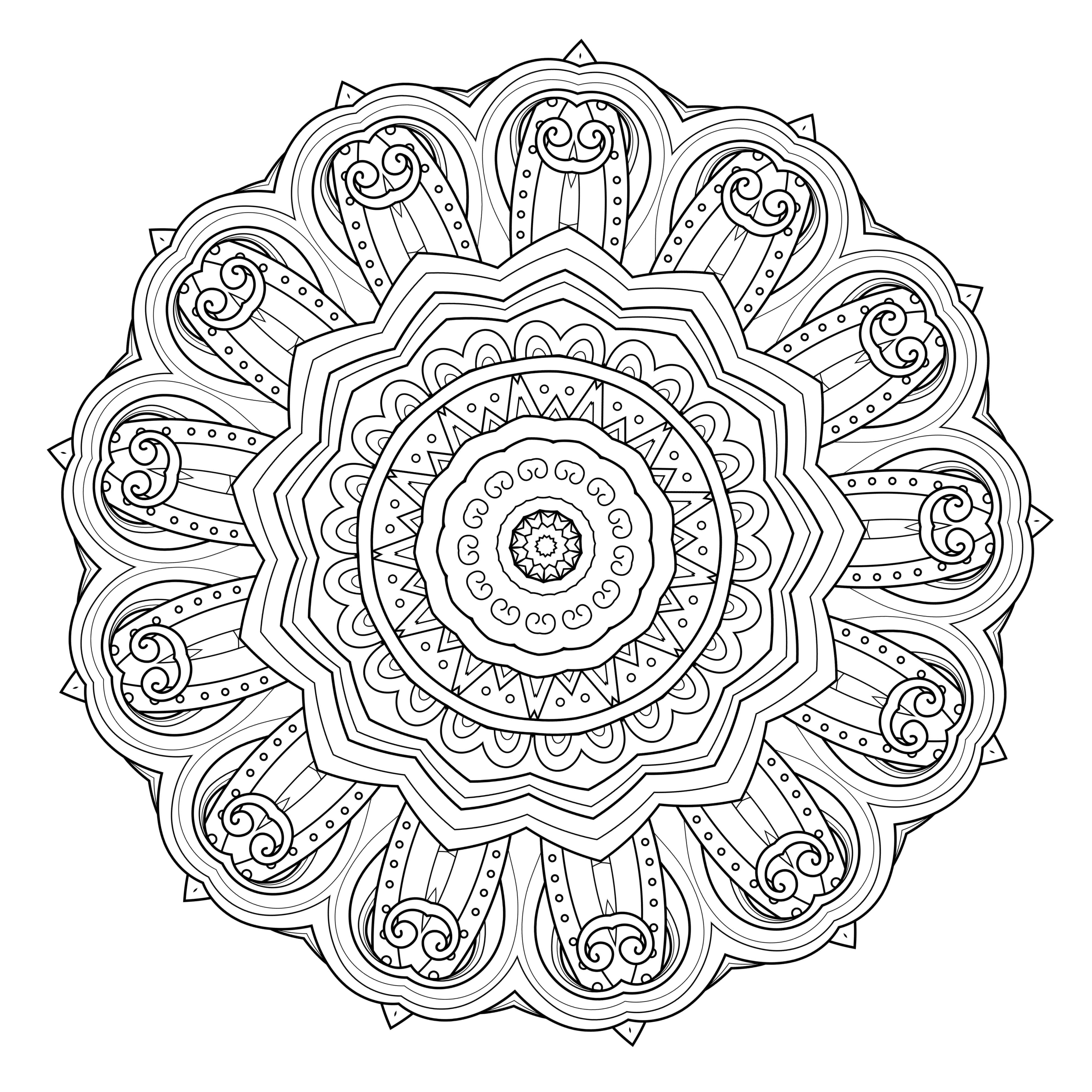 5 Free Printable Coloring Pages Mandala Templates