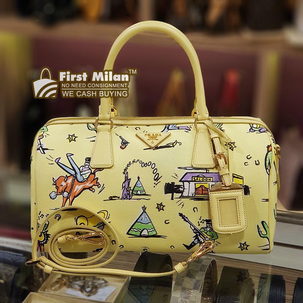 PRADA Canapa Canvas ST.Foula Tote Bag. Best Price ~ RM2 31a56024b58ff