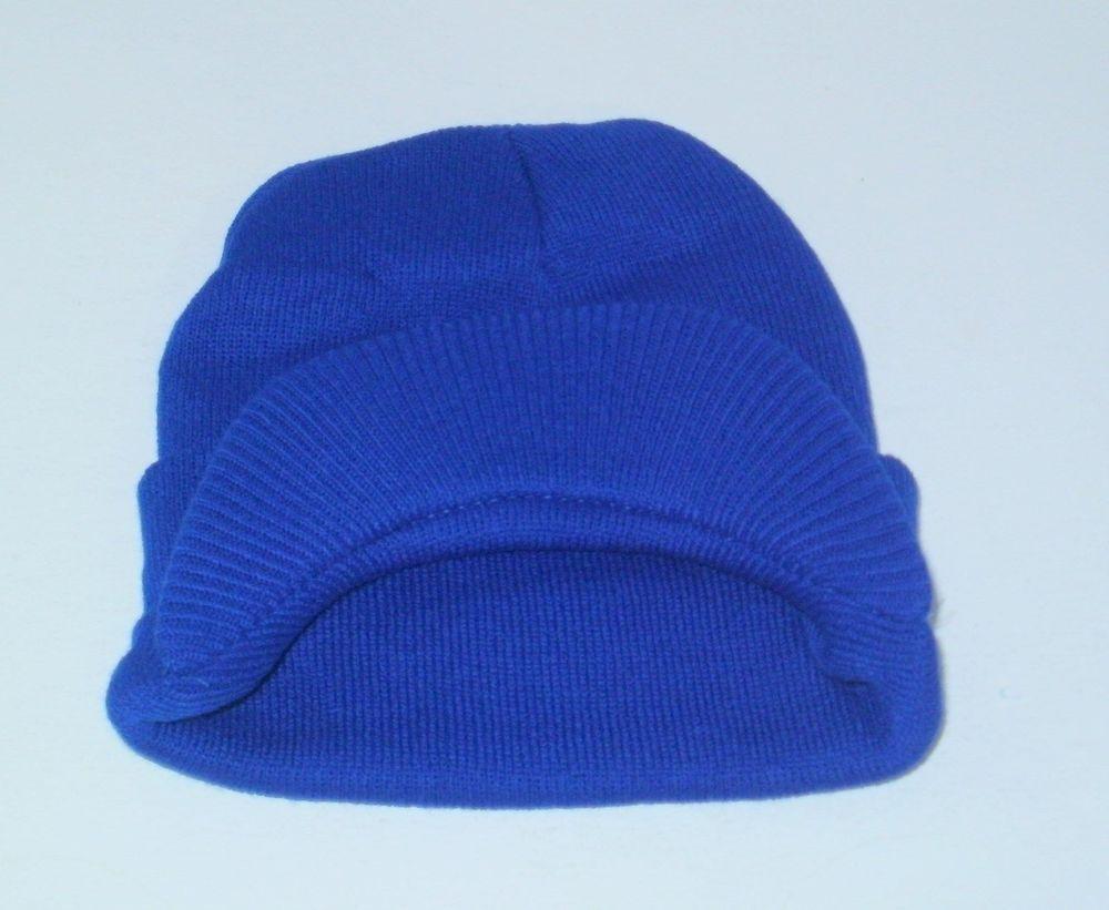 Royal Blue Winter Hat Skull Cuffed Knit Beanie Ski Cap  Unbranded  Beanie f641cf0e6f3
