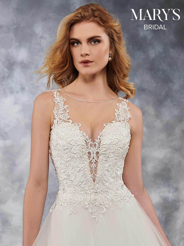 399c3efad54 Description  Sleeveless tulle bridal ball gown features illusion bateau  neck line