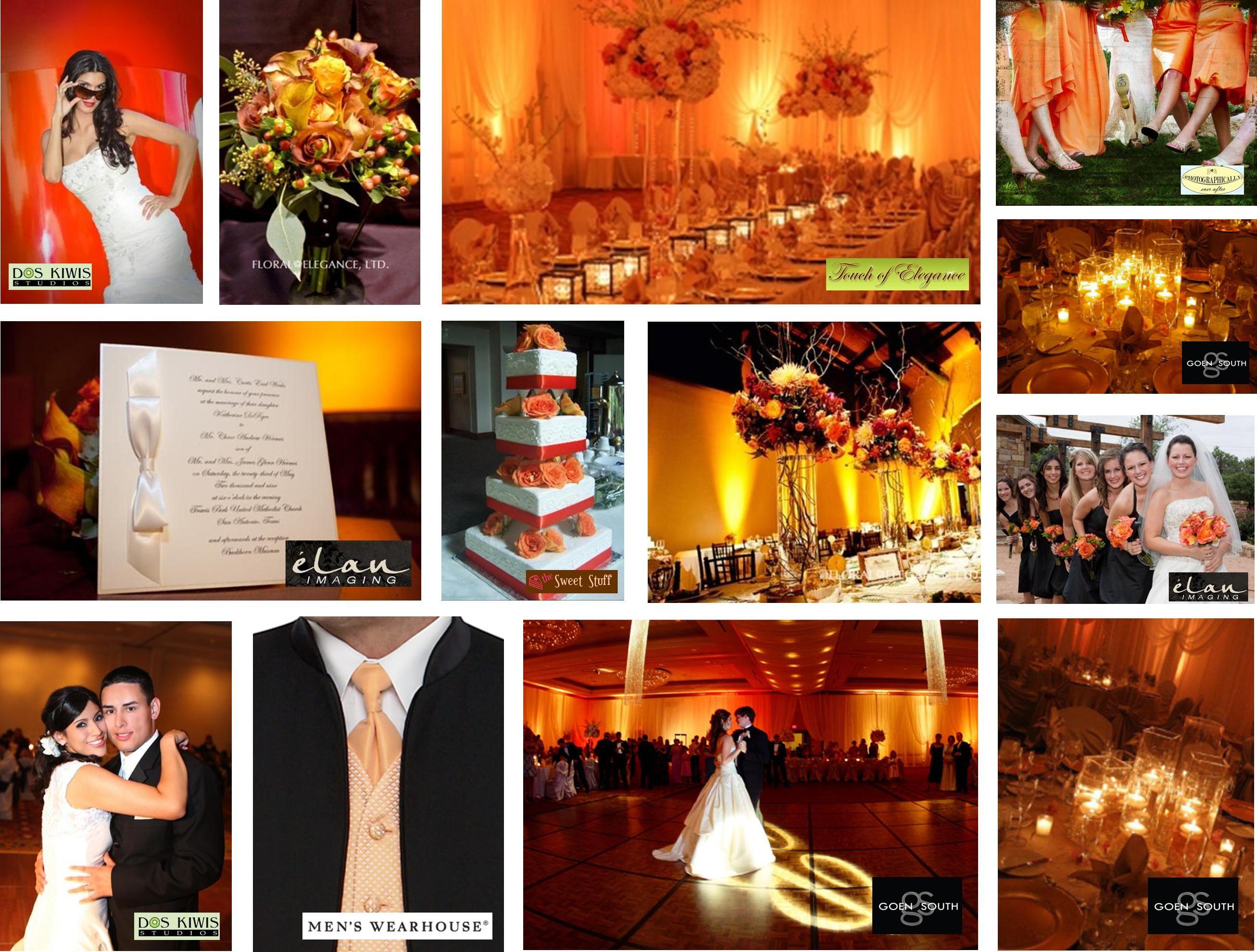 Orange Color Scheme Wedding Themesorange