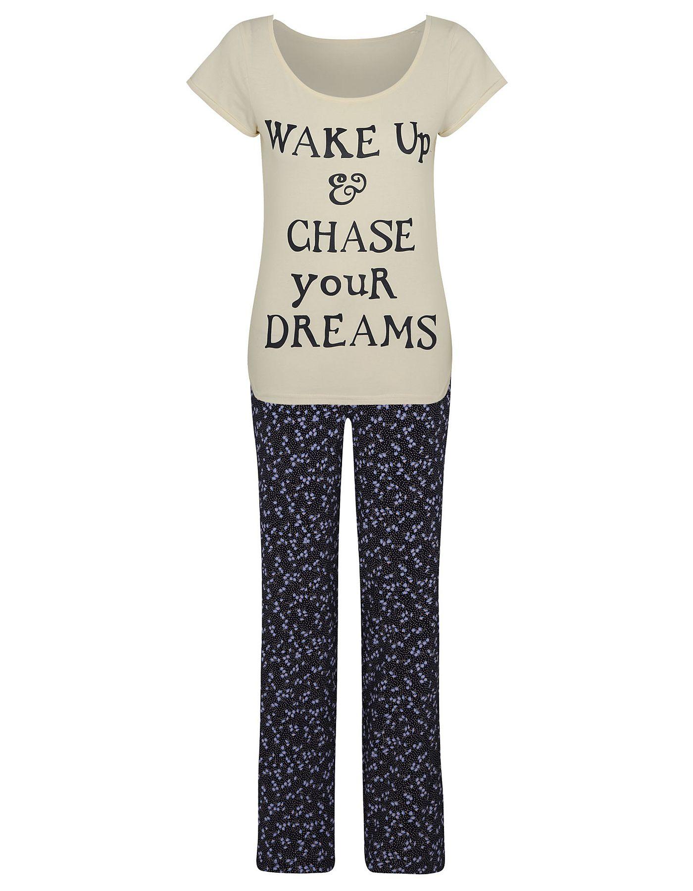 Chase Your Dreams Pyjama Set Women at ASDA