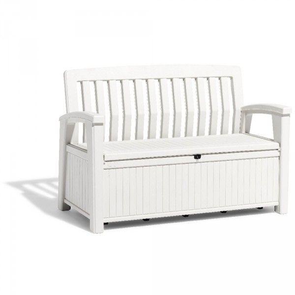 Banc Coffre Plastique 227 L Gifi 407524x Storage Bench Decor Home Decor