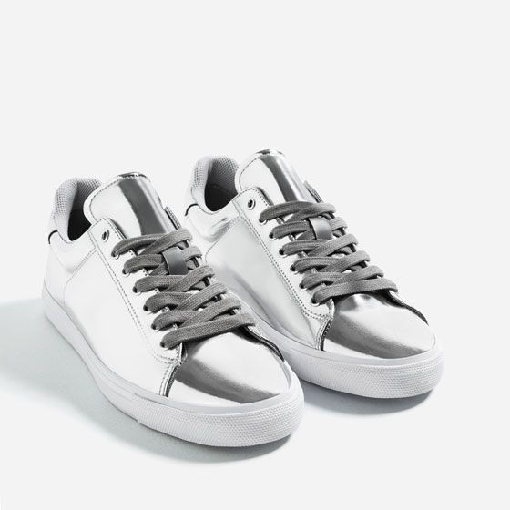 timeless design 33c21 028e9 Image 3 of SILVER SNEAKERS from Zara