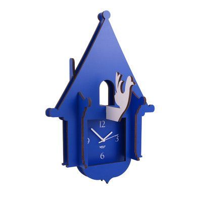 WOLF Wooden Cuckoo Clock Color: Blue