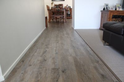 Natural coloured floor boards - Gerflor Vinyl planks. Alternative to timber floor and laminate.I love them!