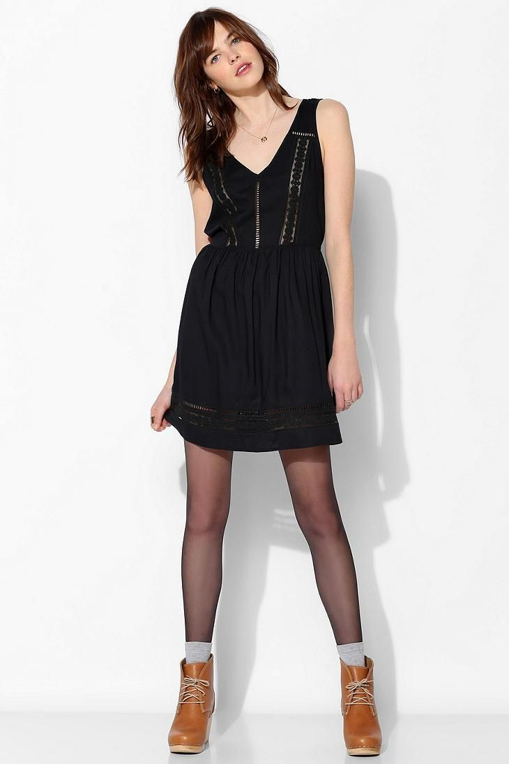 Band Of Gypsies  Lace-Inset Babydoll Dress #urbanoutfitters