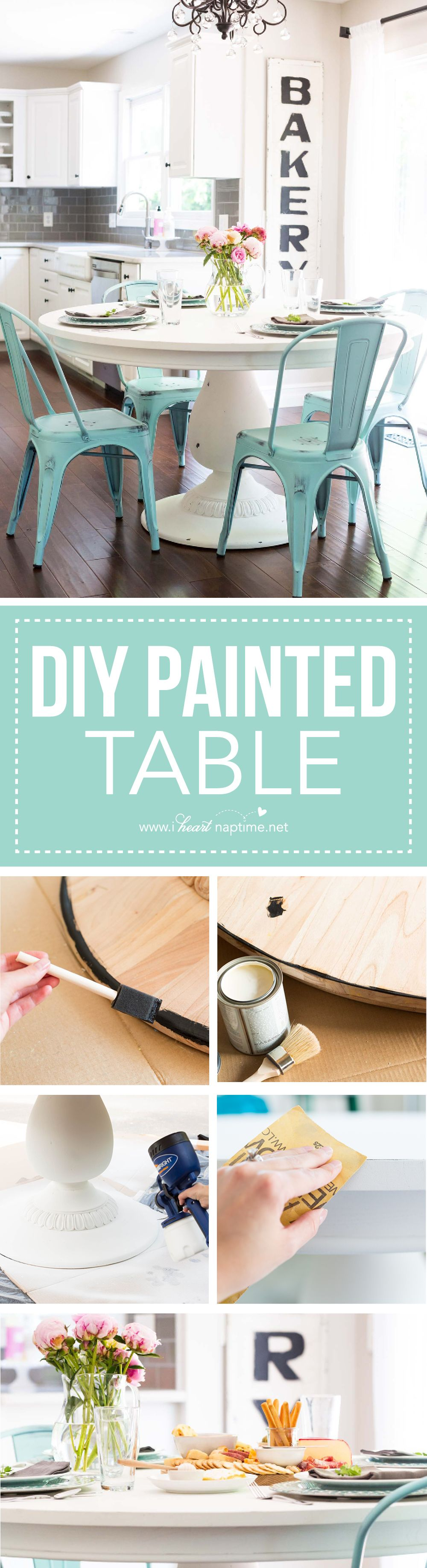 DIY Painted Table & Distressing Technique! @ave_home #avehome ...