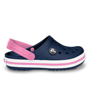54447d846ec80 Loving this Navy  amp  Pink Lemonade Crocband Clog on  zulily!  zulilyfinds  Crocs