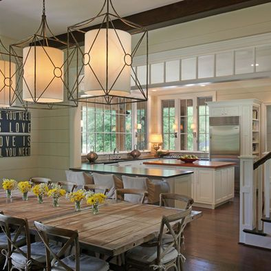 Dining Room Full View Windows With Transom For Great Room Kitchen  Combination Design, Pictures, Remodel, Decor And Ideas
