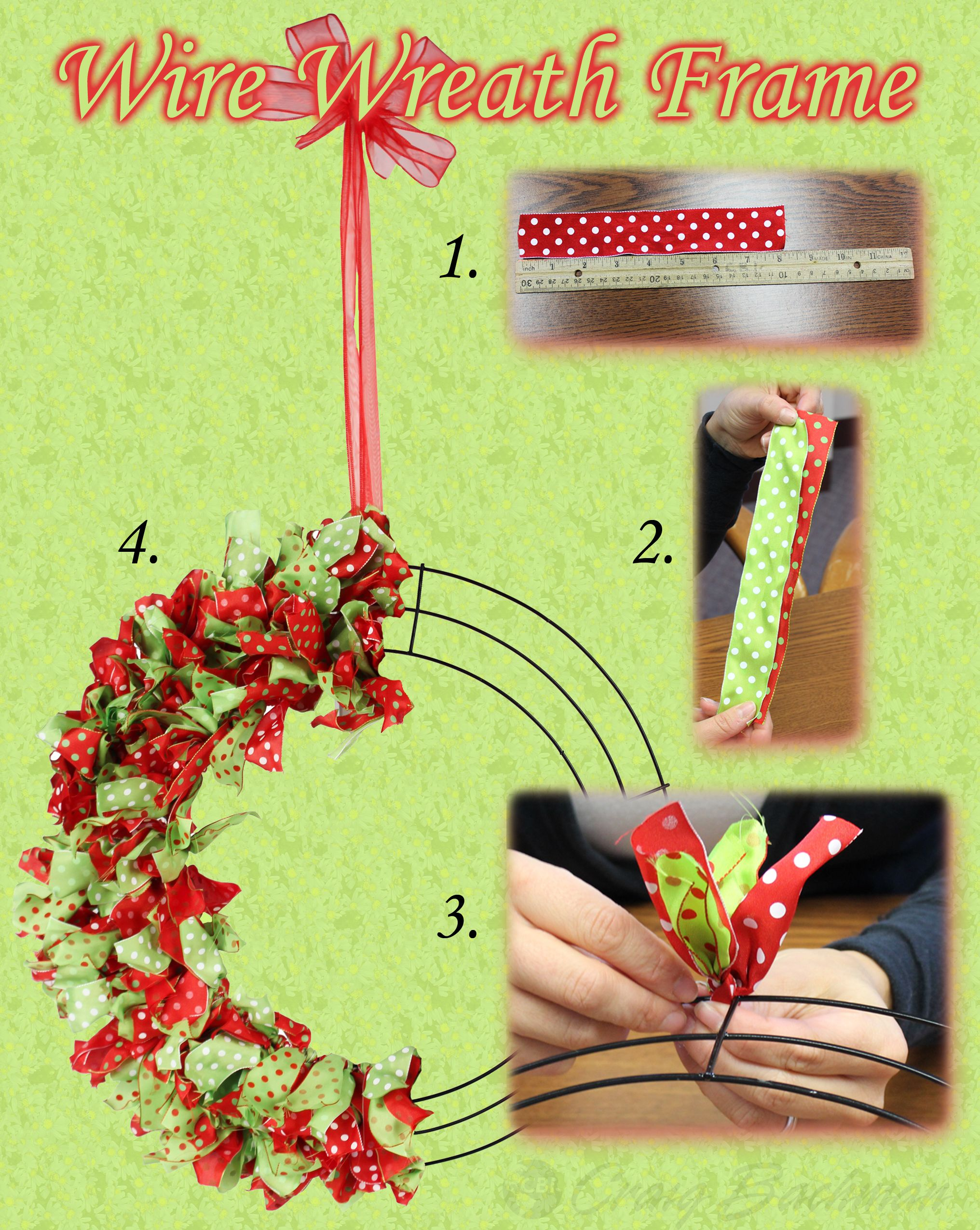 A quick howto for decorating a wire wreath frame. howto