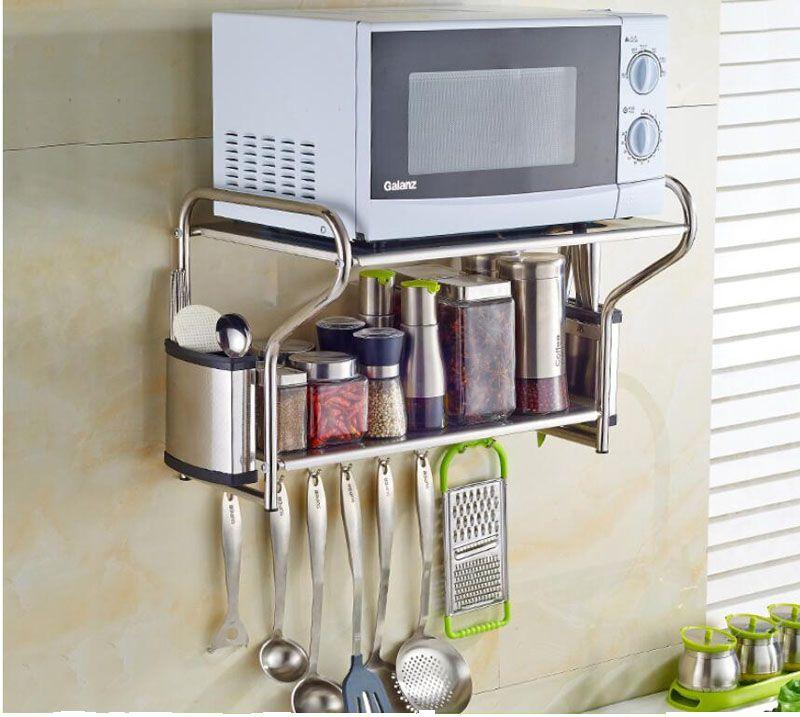 microwave wall shelf
